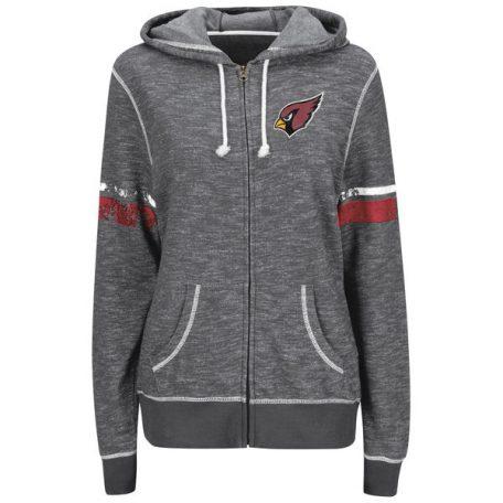 Arizona Cardinals Majestic Women's Athletic Tradition Full-Zip Hoodie – Heather Gray