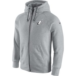 Arizona Cardinals Nike Gridiron Gray 2.0 Full-Zip Hoodie – Ash
