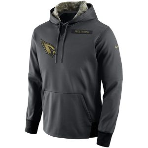 Arizona Cardinals Nike Salute to Service Player Performance Hoodie – Anthracite