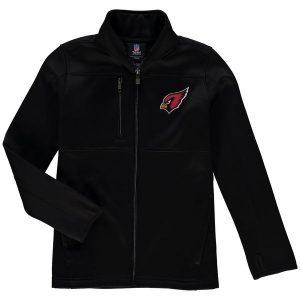 Arizona Cardinals Youth Helix Bonded Full-Zip Fleece Jacket – Black