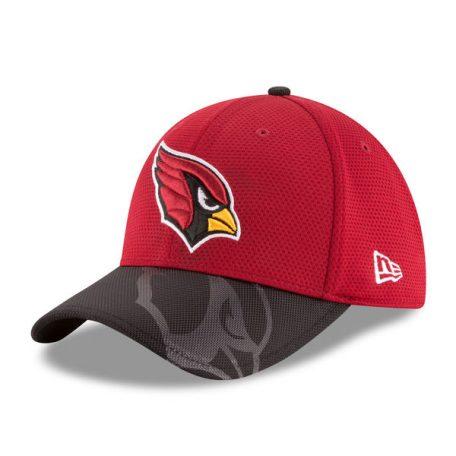 Men's Arizona Cardinals New Era CardinalBlack Sideline Official 39THIRTY Flex Hat