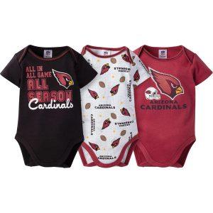 Newborn & Infant Arizona Cardinals Gerber 3-Pack Bodysuit Set