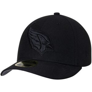 Arizona Cardinals New Era Black On Black Low Profile 59FIFTY Fitted Hat