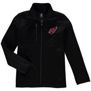 Arizona Cardinals Youth Helix Bonded Full-Zip Fleece Jacket – Black