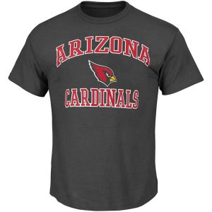 Mens Arizona Cardinals Majestic Charcoal Big & Tall Heart & Soul III T-Shirt