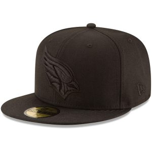 Men's Arizona Cardinals New Era Black on Black 59FIFTY Fitted Hat