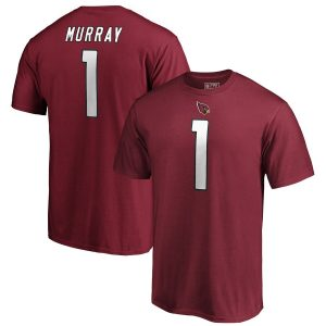 Kyler Murray Arizona Cardinals 2019 NFL Draft First Overall Pick Authentic Stack Name & Number T-Shirt